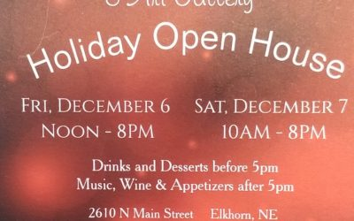 Main Street Studio Holiday Open House December 6th and 7th